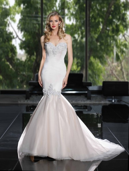 90219 Wedding Dress - Simone Carvalli Spring/Summer 2015 Bridal Collection