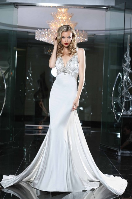 90220 Wedding Dress - Simone Carvalli Spring/Summer 2015 Bridal Collection