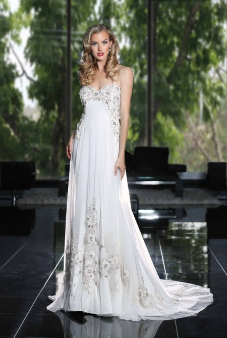 90230 Wedding Dress - Simone Carvalli Spring/Summer 2015 Bridal Collection