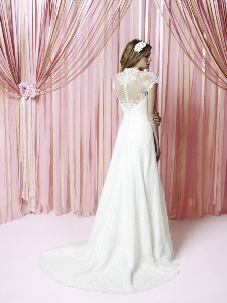 Back of Abbie Wedding Dress - Charlotte Balbier Iscoyd Park 2015 Bridal Collection