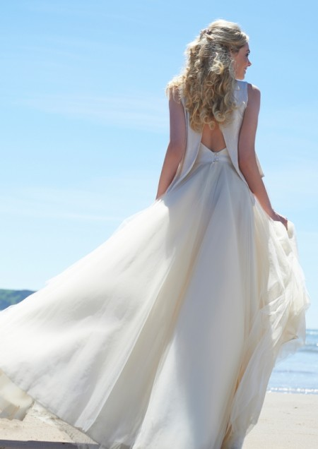 Back of After Midnight Wedding Dress - Stephanie Allin Always and Forever 2015 Bridal Collection