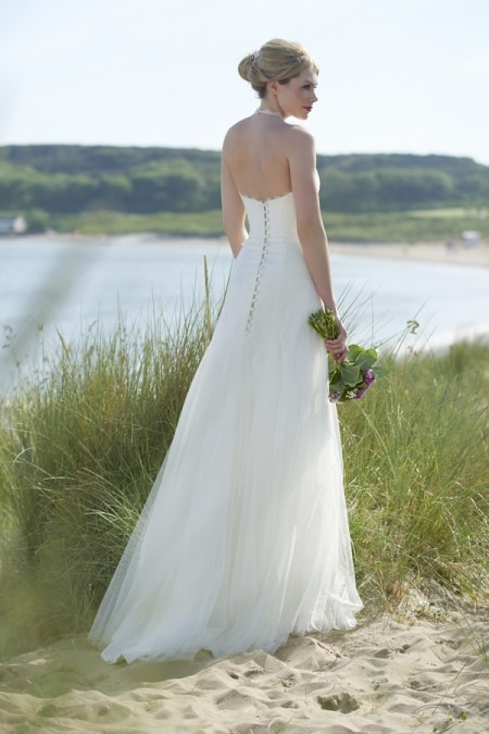 Back of Alexa Wedding Dress - Stephanie Allin Always and Forever 2015 Bridal Collection