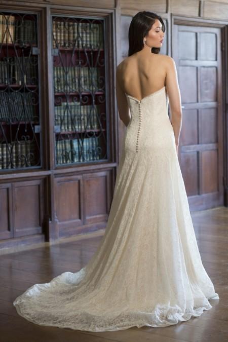 Back of Amanda Wedding Dress - Augusta Jones The Hallmark 2015 Bridal Collection