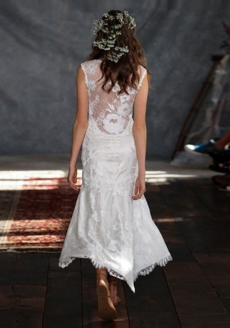 Back of Amour Wedding Dress - Claire Pettibone Romantique 2015 Bridal Collection