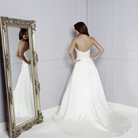 Back of April Wedding Dress - Amanda Wyatt Blue Iris 2015 Bridal Collection