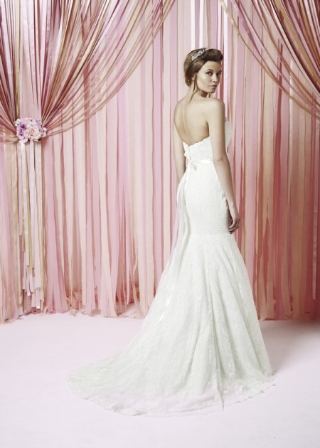 Back of Aubrey Wedding Dress - Charlotte Balbier Iscoyd Park 2015 Bridal Collection