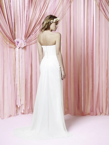 Back of Beatrice Wedding Dress - Charlotte Balbier Iscoyd Park 2015 Bridal Collection