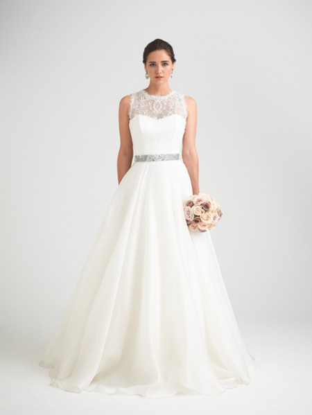 Bellisima Wedding Dress with Hollie Shrug - Caroline Castigliano Opera 2015 Bridal Collection