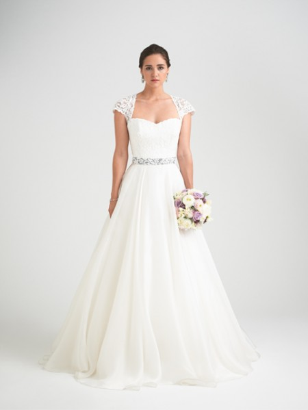 Bellisima Wedding Dress with Intrigue Shrug - Caroline Castigliano Opera 2015 Bridal Collection