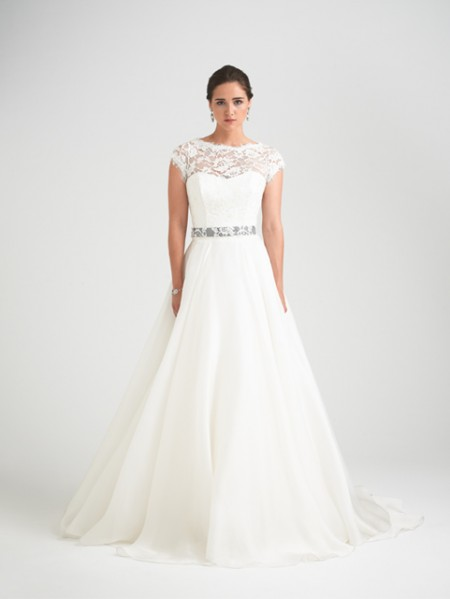 Bellisima Wedding Dress with Rosalina Shrug - Caroline Castigliano Opera 2015 Bridal Collection