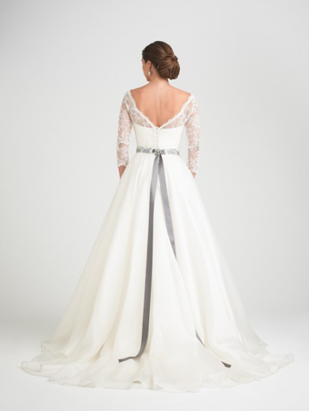 Back of Bellisima Wedding Dress with Svetland Shrug - Caroline Castigliano Opera 2015 Bridal Collection