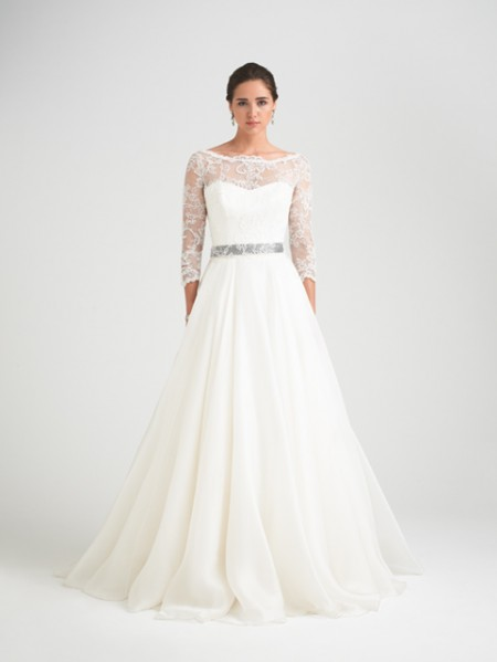 Bellisima Wedding Dress with Svetland Shrug - Caroline Castigliano Opera 2015 Bridal Collection