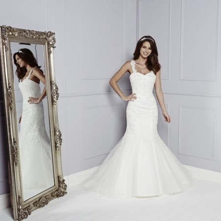 Brogan Wedding Dress - Amanda Wyatt Blue Iris 2015 Bridal Collection