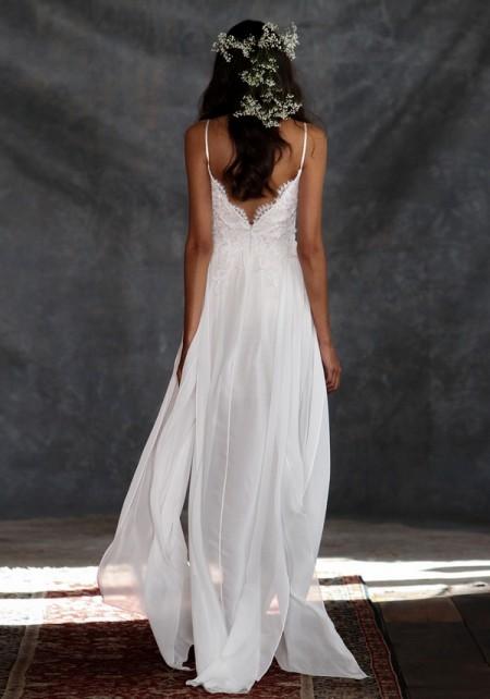 Back of Casablanca Wedding Dress - Claire Pettibone Romantique 2015 Bridal Collection