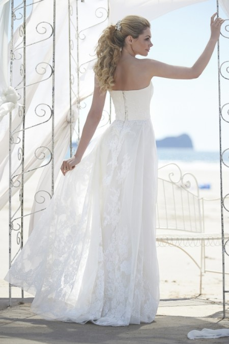 Back of Cassie Wedding Dress - Stephanie Allin Always and Forever 2015 Bridal Collection