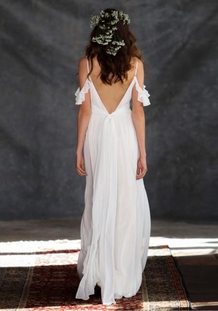 Back of Ceylon Wedding Dress - Claire Pettibone Romantique 2015 Bridal Collection