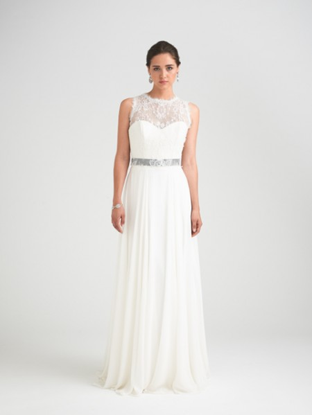 Charm School Wedding Dress with Hollie Shrug - Caroline Castigliano Opera 2015 Bridal Collection
