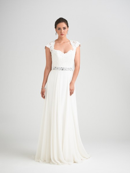 Charm School Wedding Dress with Intrigue Shrug - Caroline Castigliano Opera 2015 Bridal Collection