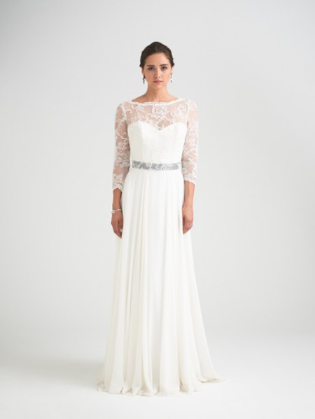 Charm School Wedding Dress with Svetlana Shrug - Caroline Castigliano Opera 2015 Bridal Collection