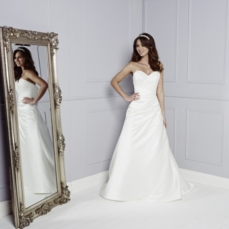 Christina Wedding Dress - Amanda Wyatt Blue Iris 2015 Bridal Collection