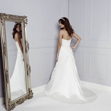 Back of Christina Wedding Dress - Amanda Wyatt Blue Iris 2015 Bridal Collection