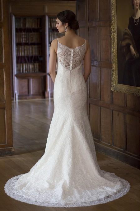 Back of Christine Wedding Dress - Augusta Jones The Hallmark 2015 Bridal Collection