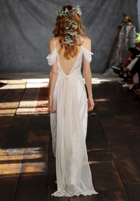 Back of Clementine Wedding Dress - Claire Pettibone Romantique 2015 Bridal Collection