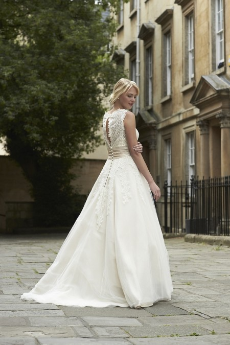 Back of Cleo Wedding Dress - So Sassi 2015 Bridal Collection