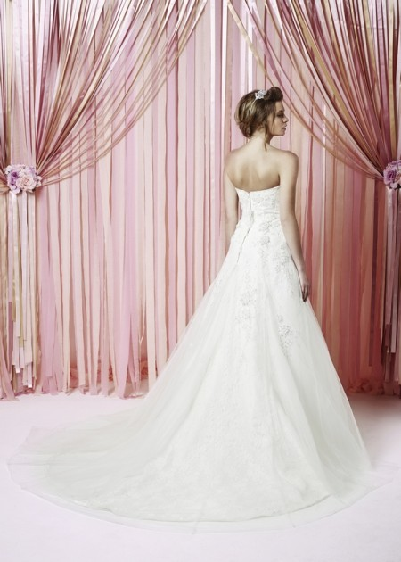 Back of Daydream Wedding Dress - Charlotte Balbier Iscoyd Park 2015 Bridal Collection