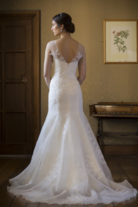 Back of Dominique Wedding Dress - Augusta Jones The Hallmark 2015 Bridal Collection