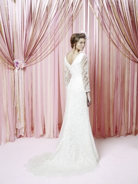 Back of Eliza Wedding Dress - Charlotte Balbier Iscoyd Park 2015 Bridal Collection