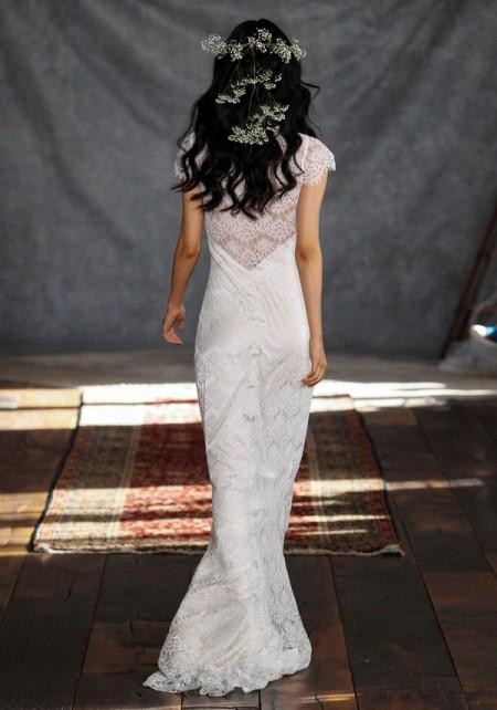 Back of Estelle Wedding Dress - Claire Pettibone Romantique 2015 Bridal Collection