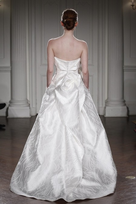 Back of Flora Wedding Dress - Peter Langner 2015 Bridal Collection