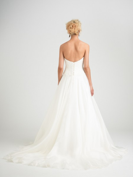 Back of Fly Me to the Moon Wedding Dress - Caroline Castigliano Opera 2015 Bridal Collection