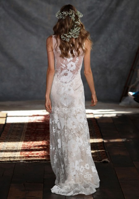 Back of Gardenia Wedding Dress - Claire Pettibone Romantique 2015 Bridal Collection