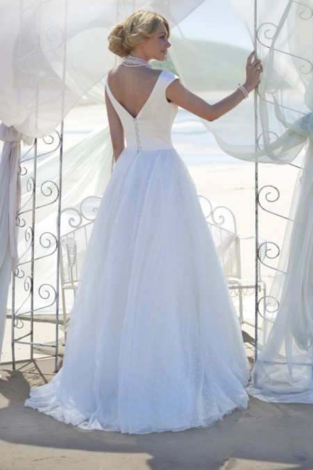 Back of Grace Wedding Dress - Stephanie Allin Always and Forever 2015 Bridal Collection