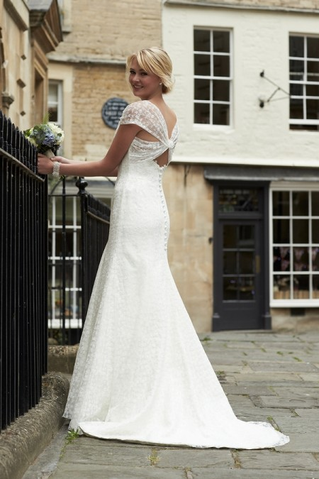 Back of Harriet Wedding Dress - So Sassi 2015 Bridal Collection