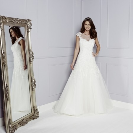 Hetty Wedding Dress in Ivory - Amanda Wyatt Blue Iris 2015 Bridal Collection