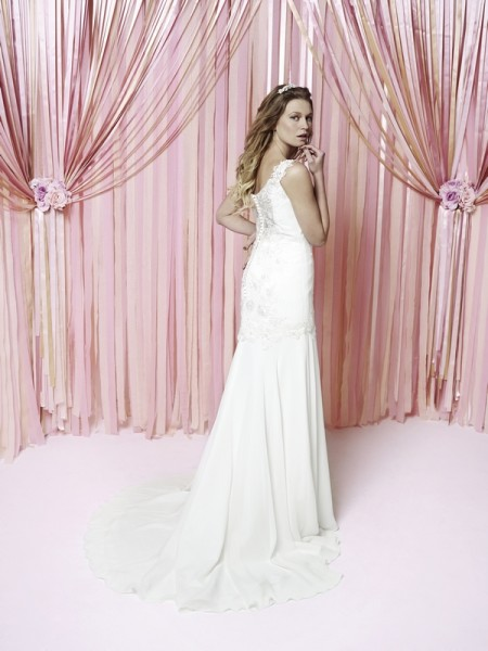 Back of Imogen Wedding Dress - Charlotte Balbier Iscoyd Park 2015 Bridal Collection
