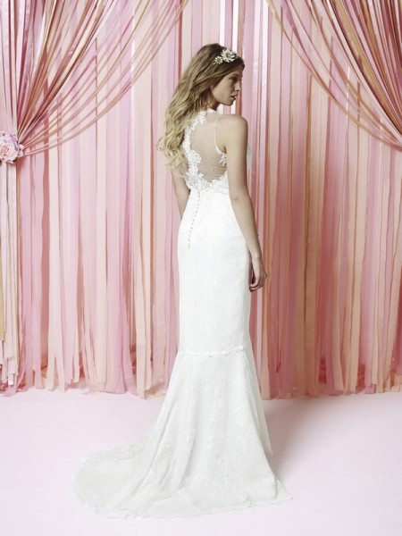 Back of Isadora Wedding Dress - Charlotte Balbier Iscoyd Park 2015 Bridal Collection