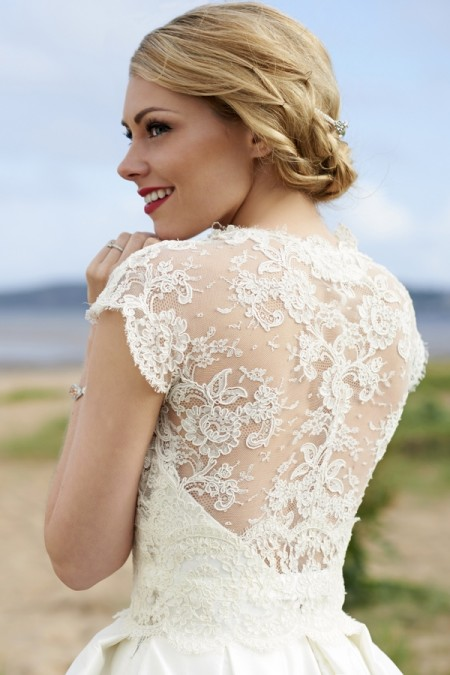 Back of Ivy Wedding Dress with Ryan Shrug - Stephanie Allin Always and Forever 2015 Bridal Collection