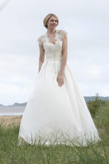 Ivy Wedding Dress with Ryan Shrug - Stephanie Allin Always and Forever 2015 Bridal Collection