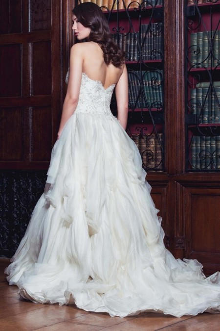 Back of Jacqueline Wedding Dress - Augusta Jones The Hallmark 2015 Bridal Collection
