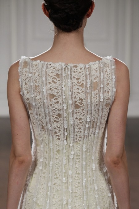 Back of Jasmine Wedding Dress - Peter Langner 2015 Bridal Collection