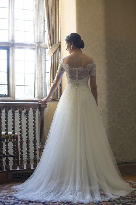 Back of Katherine Wedding Dress - Augusta Jones The Hallmark 2015 Bridal Collection