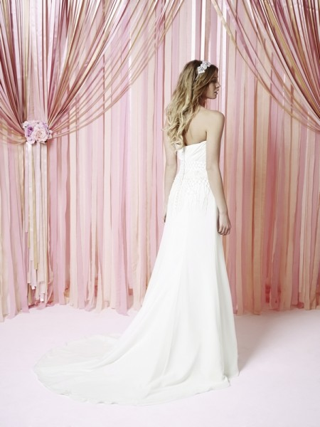 Back of Krystal Wedding Dress - Charlotte Balbier Iscoyd Park 2015 Bridal Collection