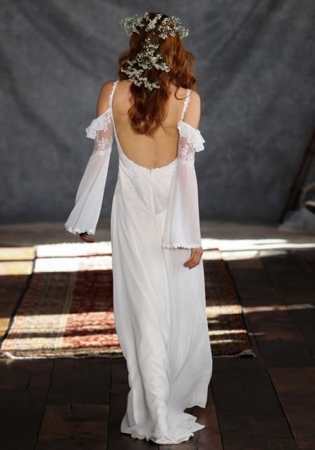 Back of Laurel Wedding Dress - Claire Pettibone Romantique 2015 Bridal Collection