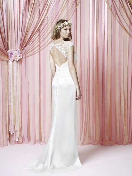 Back of Livsy Wedding Dress - Charlotte Balbier Iscoyd Park 2015 Bridal Collection