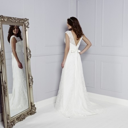 Back of Luciana Wedding Dress - Amanda Wyatt Blue Iris 2015 Bridal Collection