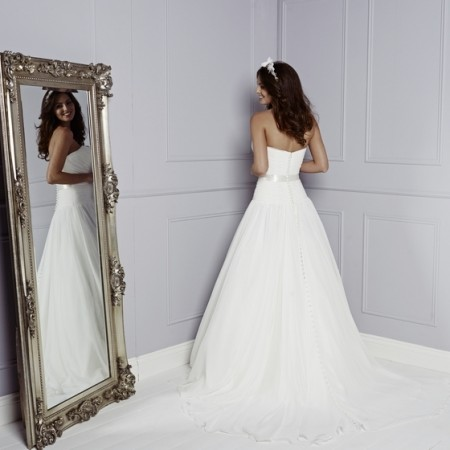 Back of Lupin Wedding Dress - Amanda Wyatt Blue Iris 2015 Bridal Collection